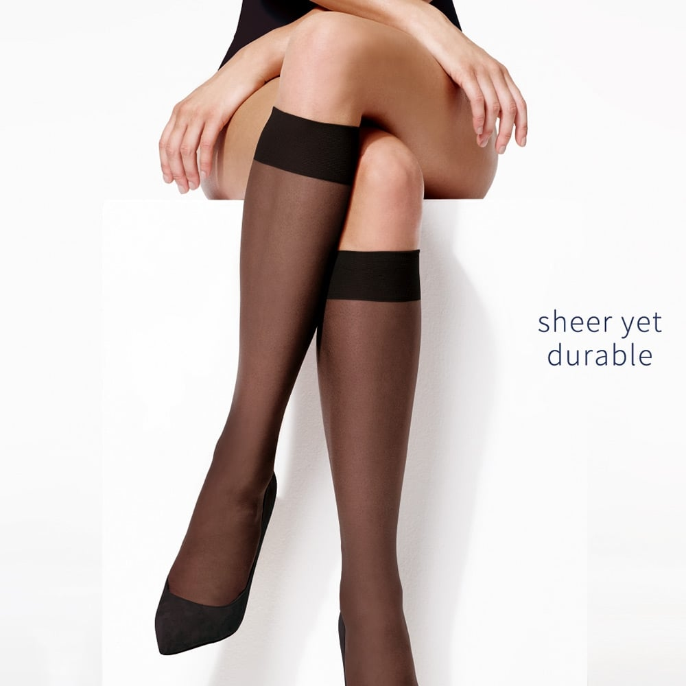 картинка Charnos Trouserwear sheer knee highs - 5 pair pack от магазина Missstockings.ru